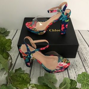 Chase + Chloe Platform Clear Open Toe Sandals
